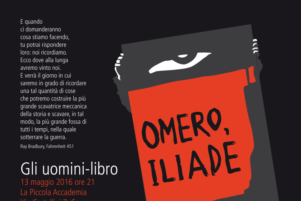 Uomini-libro: ILIADE di TeatroGruppo Popolare